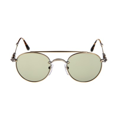 Chrome Hearts lunette bubba antique gold Sunglasses
