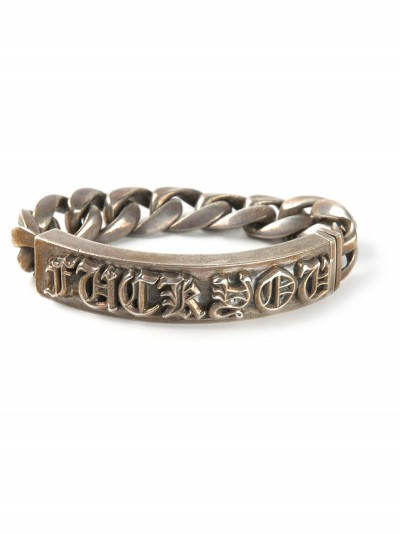 Chrome Hearts Silver 'Fuck You' bracelet