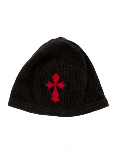 CHROME HEARTS Men's Black EMBROIDERED BEANIE