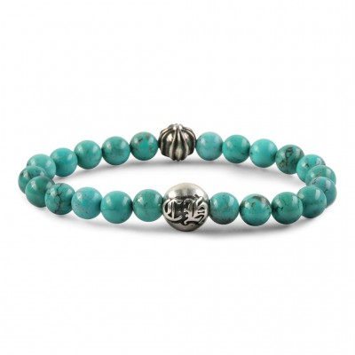 Chrome Hearts CH PLUS TURQUOISE 8MM BEAD BRACELET