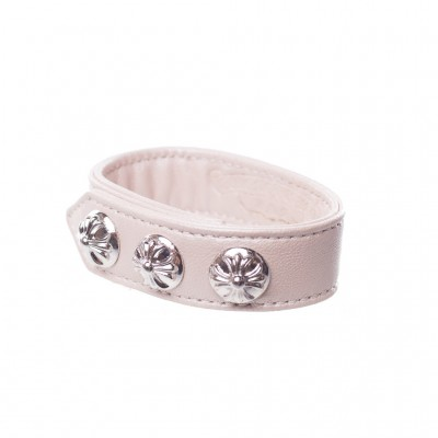 Chrome Hearts CH PLUS LEATHER BRACELET Nude