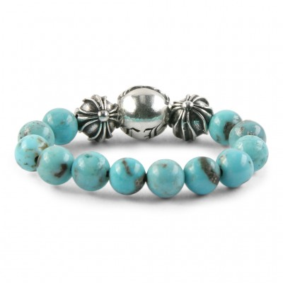Chrome Hearts CH PLUS BALL TURQUOISE BEAD RING