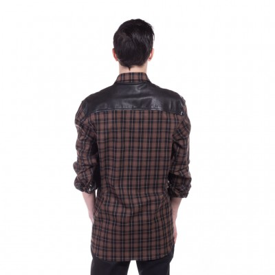 Chrome Hearts Mens BIG MOUTH FLANNEL SHIRT