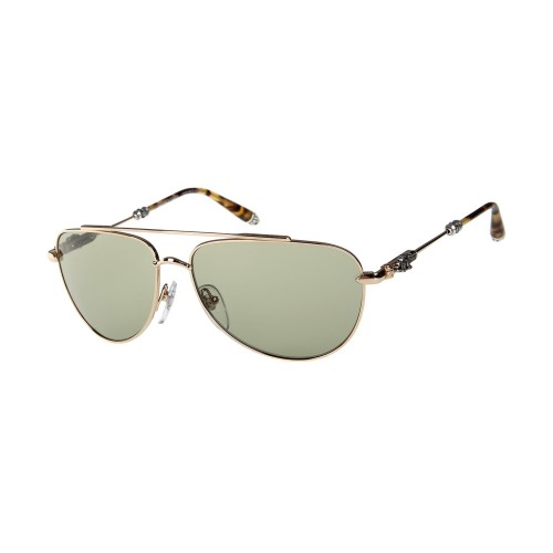 Chrome Hearts Golden titanium Green lunette Slam Sunglasses