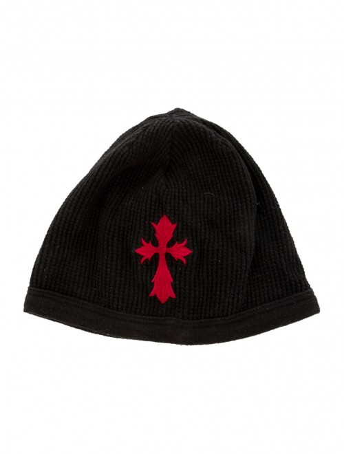 95013c4c6 CHROME HEARTS Men's Black Red EMBROIDERED BEANIE