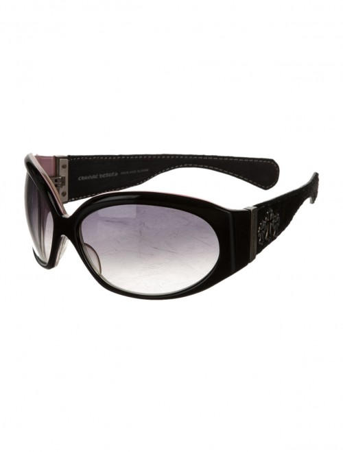 CHROME HEARTS Women's Black and pale pink enamel SUNGLASSES